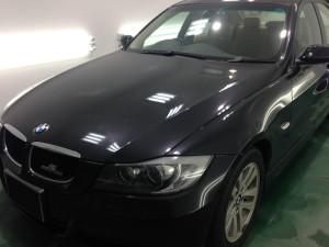 BMW 3シリーズ ブラックメタリック  ボディガラスコーティング