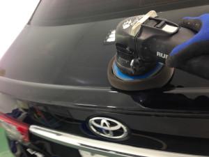 トヨタ マークX ブラック ボディガラスコーティング