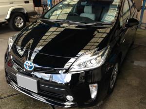 トヨタ プリウス ブラック ボディガラスコーティング