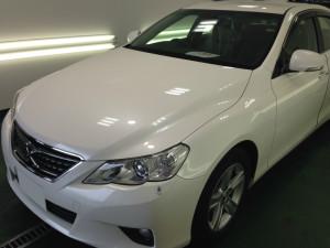 トヨタ マークX パールホワイト ボディガラスコーティング